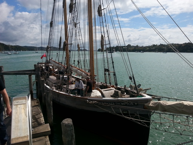 R. Tucker Thompson and trainees departing from Opua