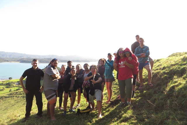 Trainees on an island walk