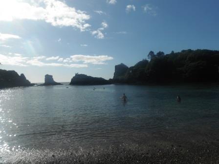Calm seas at Mahinepouri
